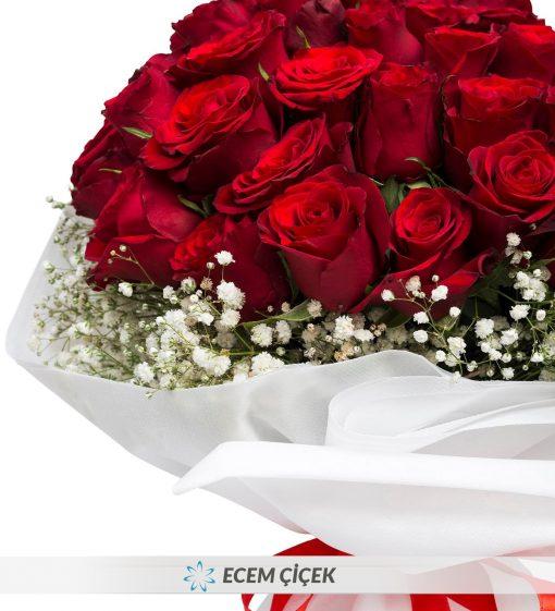 50 Kırmızı Gül Çiçek Demeti – 3