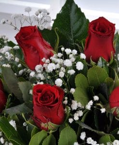 Gün Batımı 5 Kırmızı Gül Çiçek Arajmanı – 3