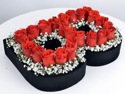 Kişiye Özel Kırmızı Güllerden Baş Harf – 2